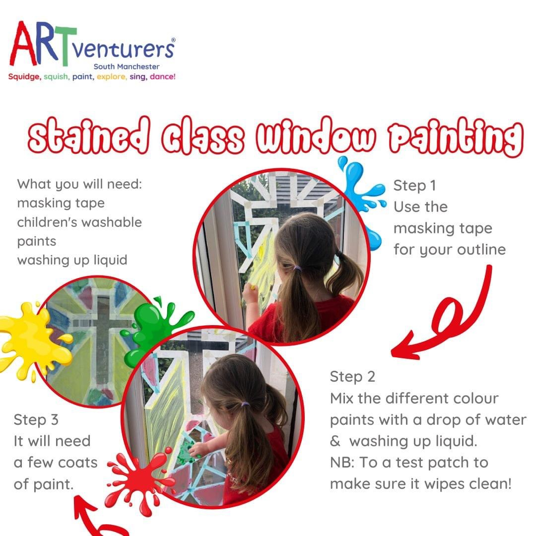 How to create a stained glass window painting