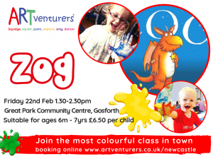 Zog inspired art classes for babies and children