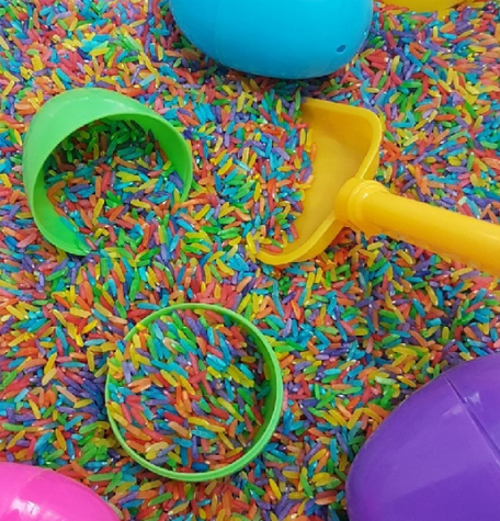 Sensory play activities for babies and children
