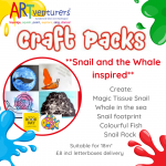 craft packs for kids Snail on the Whale