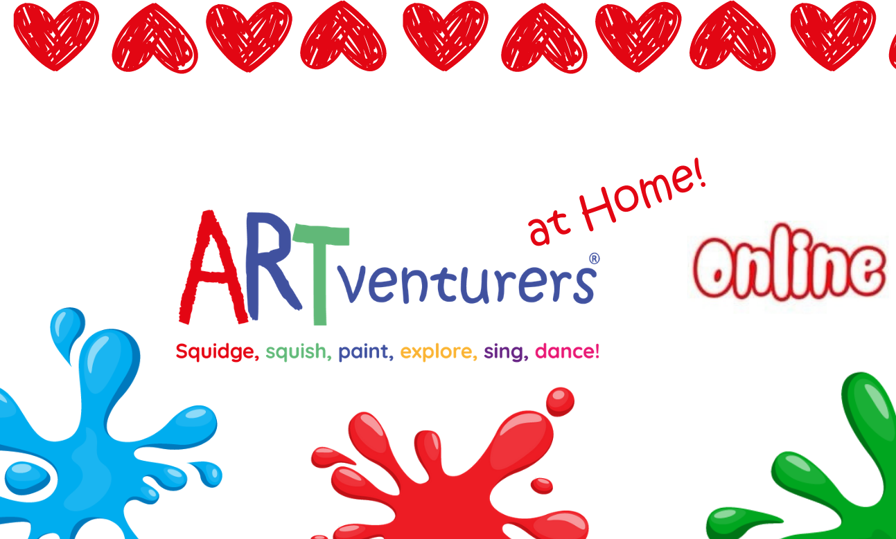 artventurers at home sessions for babies and toddler
