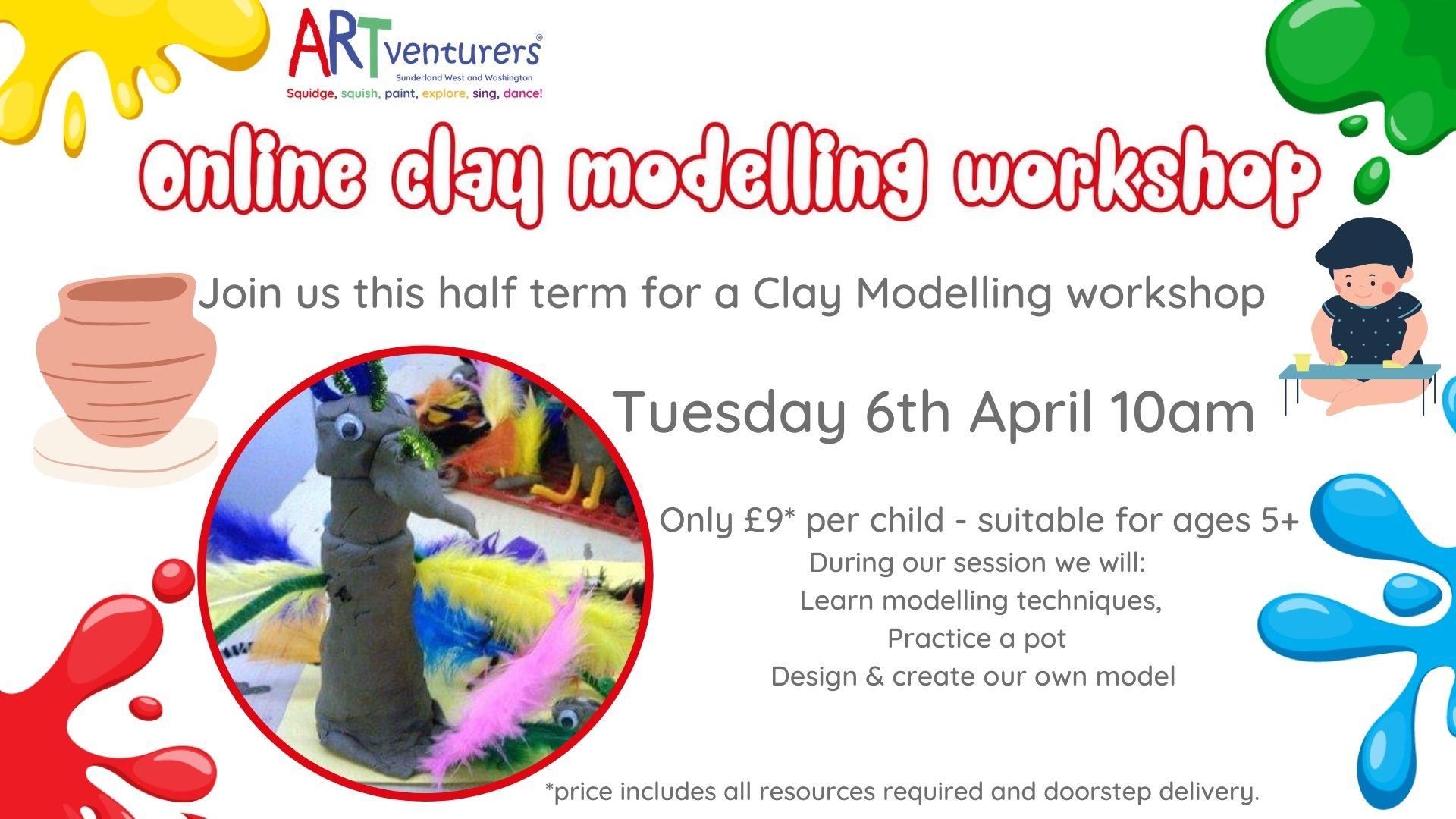 Online Clay Modelling Workshop Washington