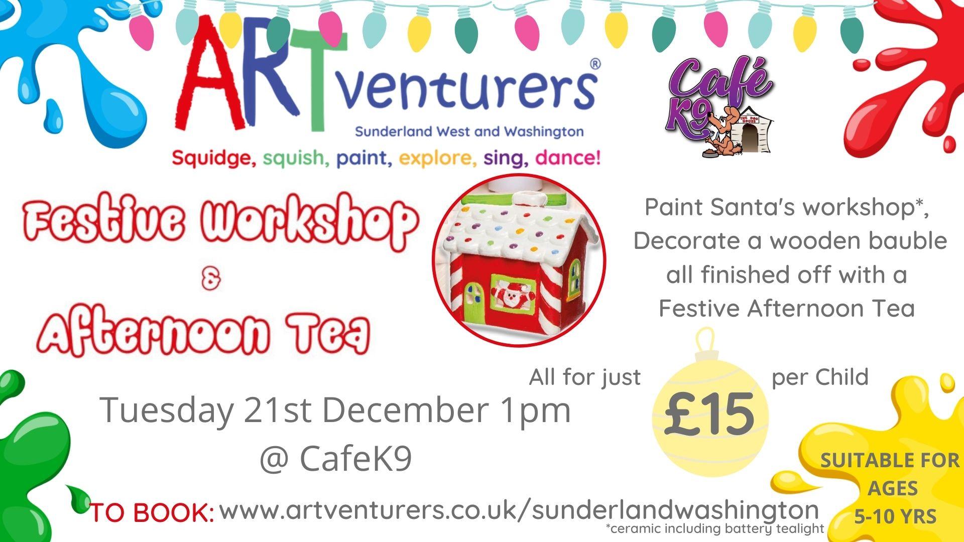 artventurers christmas workshop