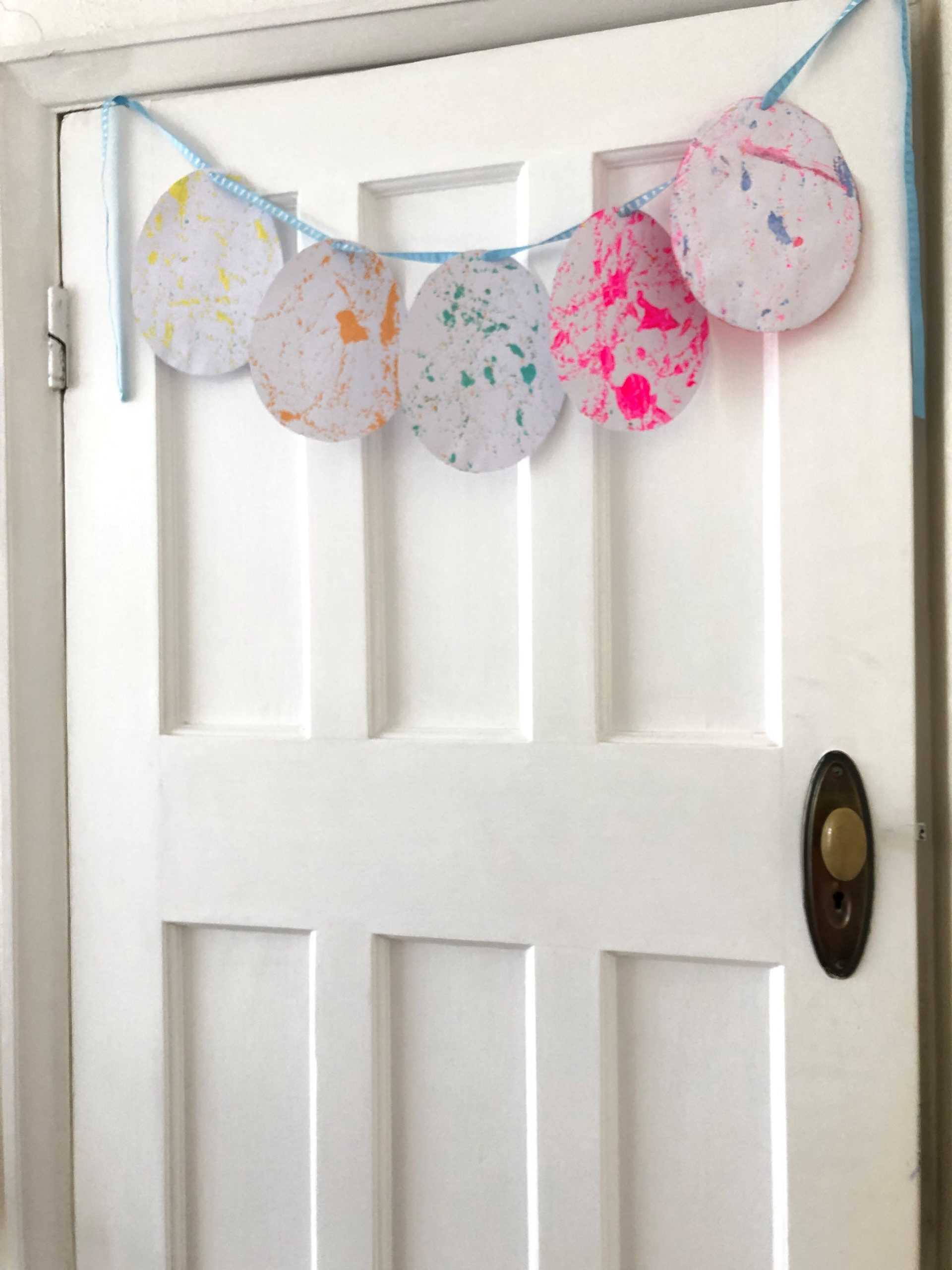 Door with Easter Bunting hanging from the top
