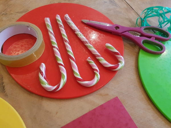 Candy Cane Place Setting
