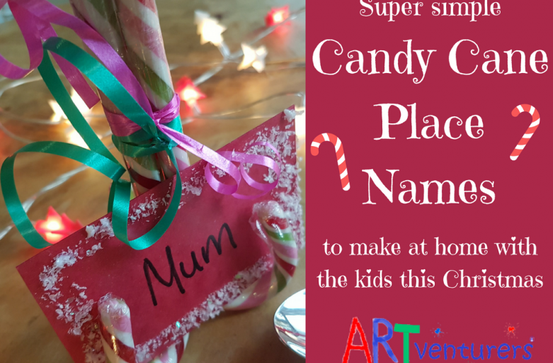 Christmas Candy Cane Place Name Settings