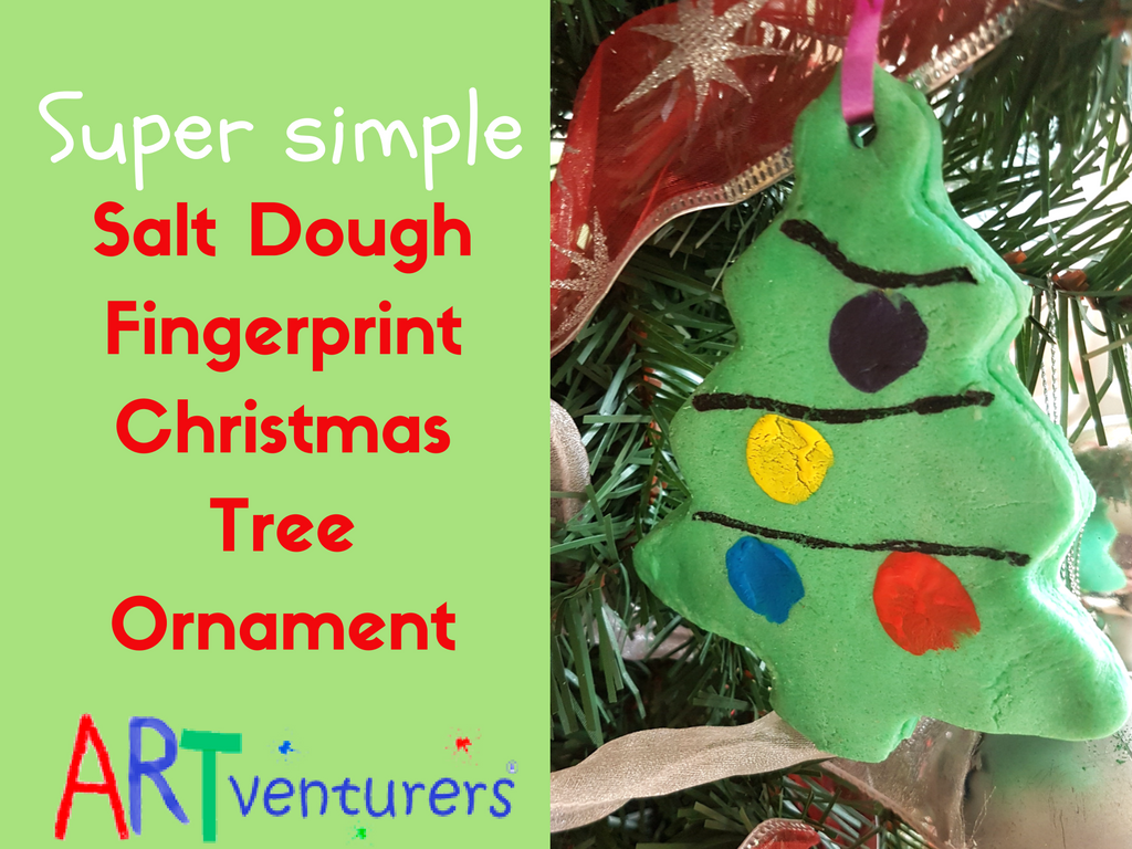How To Make Christmas Tree Ornaments With Dough : Salt dough christmas tree ornaments artventurers