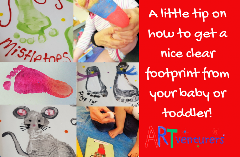 Baby Footprints – how to get a good clear footprint from a baby or toddler!