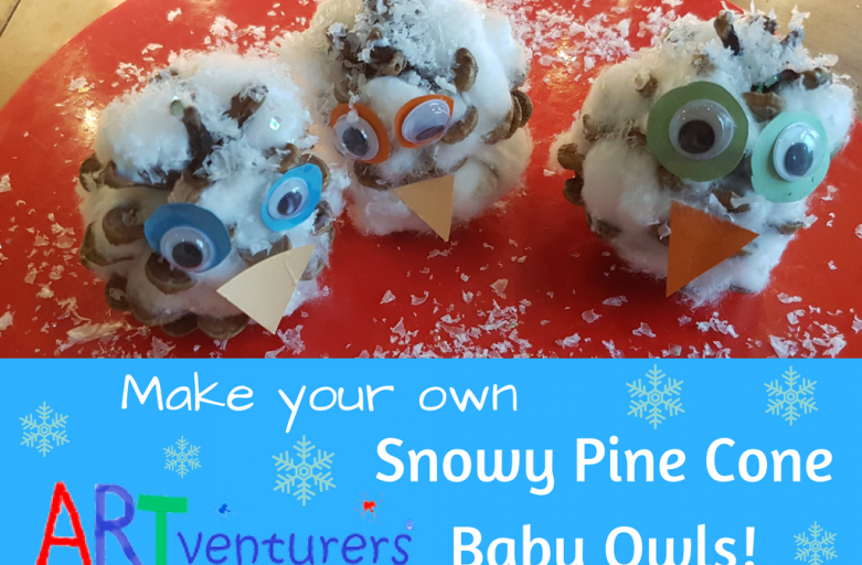Snowy Pine Cone Baby Owls!