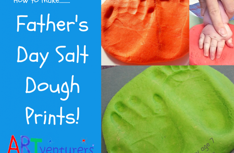 Easy Salt Dough Prints for Father's Day!