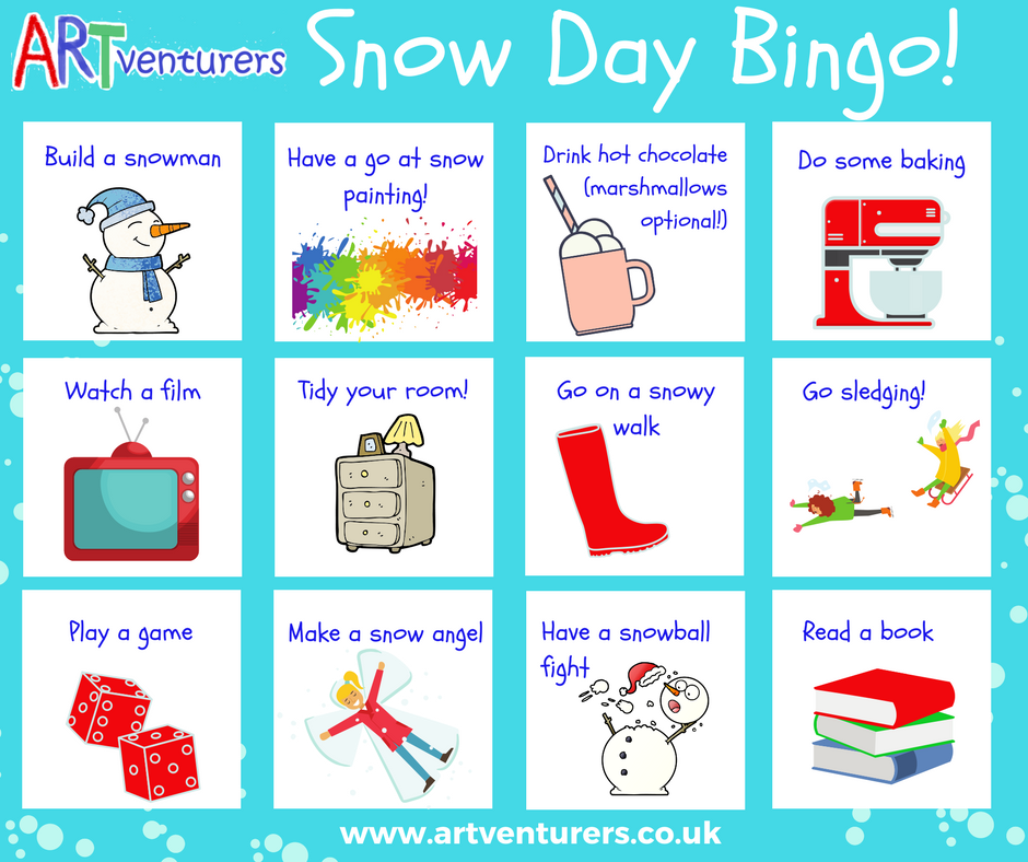 snow day bingo