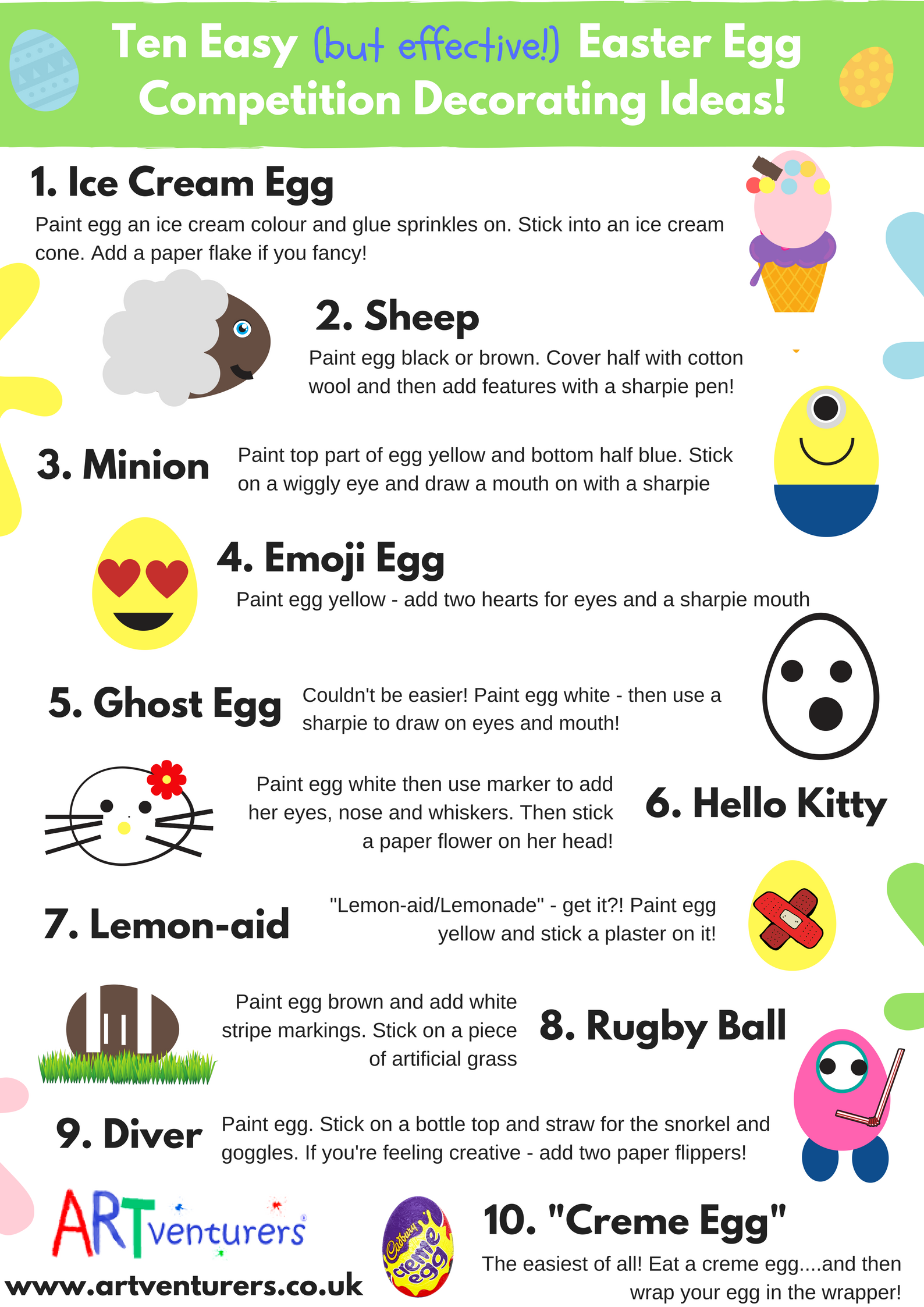 easy egg decorating ideas for kids