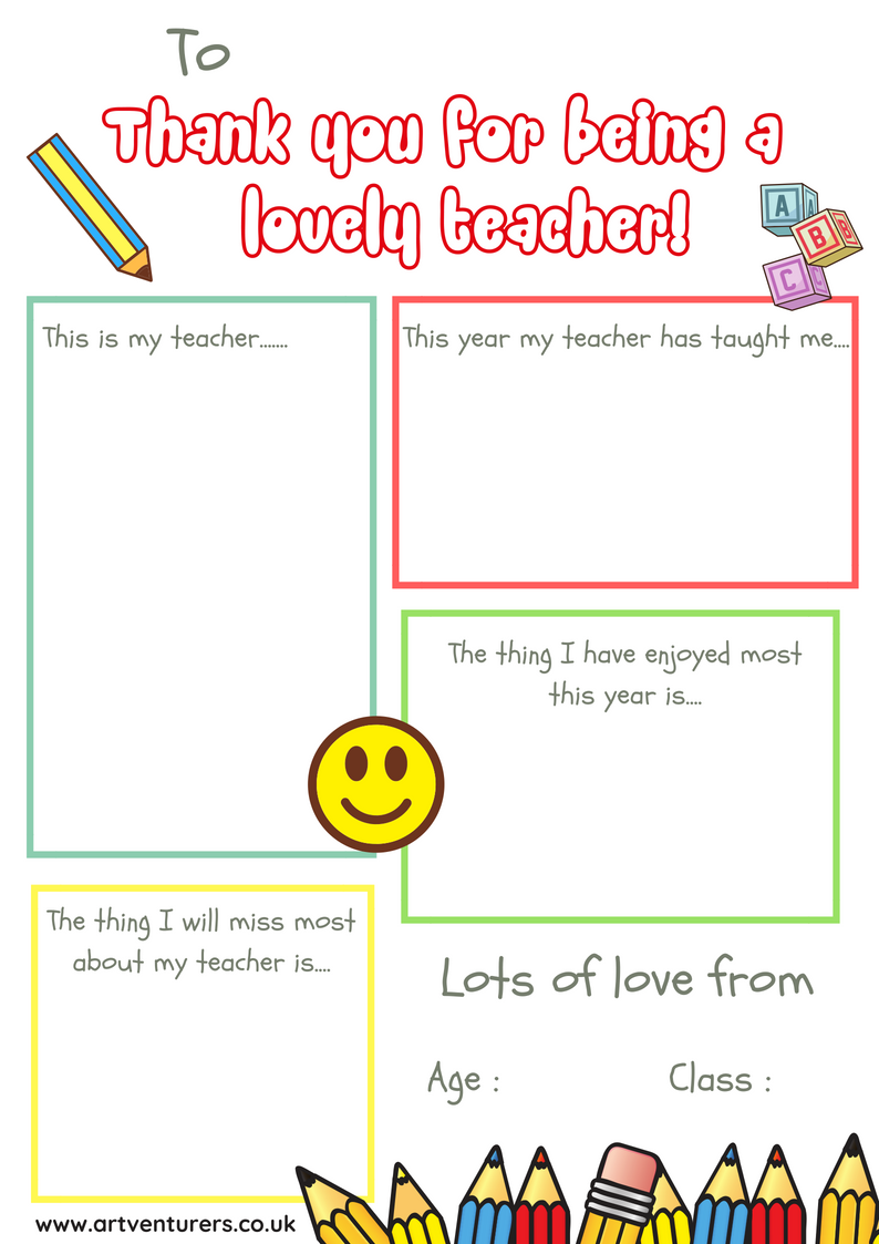 thank you card for teacher Archives - With Regard To Thank You Card For Teacher Template