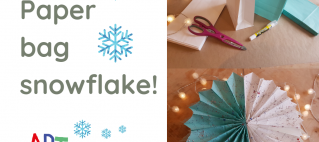Make A Paper Bag Snowflake!