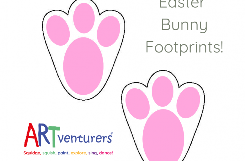 Easter Bunny Footprint Stencil Template!