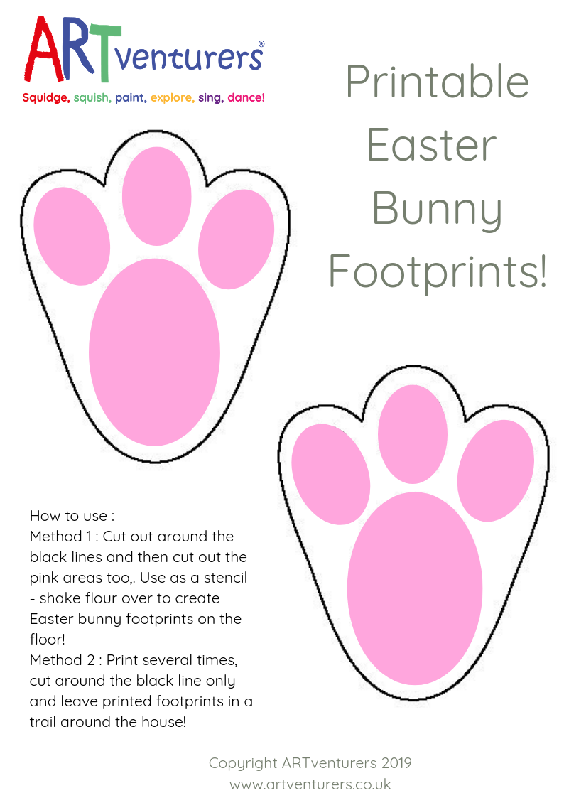 photo about Footprint Printable titled easter bunny footprint template Archives -