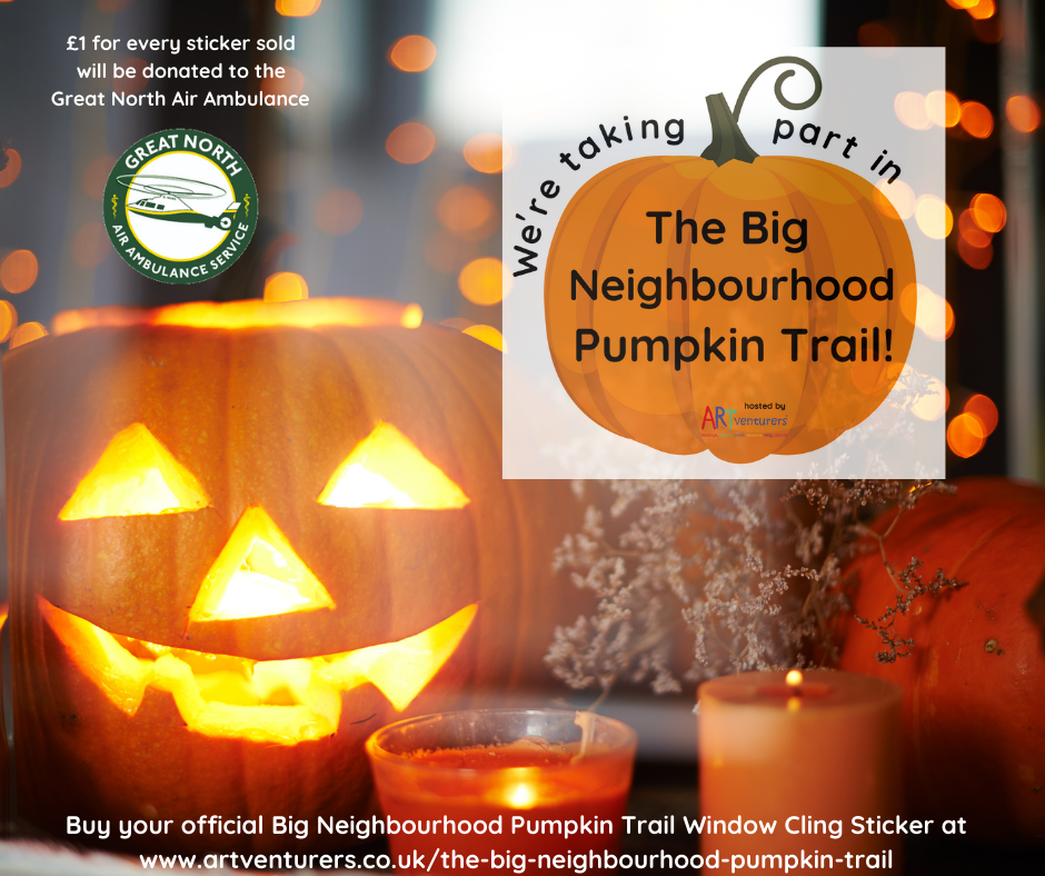 The Big Neighbourhood Pumpkin Trail! Official Window Cling Sticker (in aid of the Great North Air Ambulance)