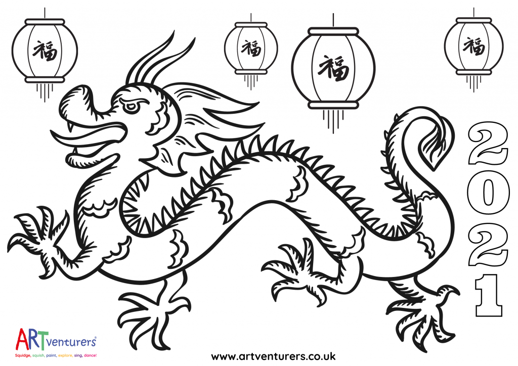 Free Chinese New Year Colouring Pages 2021